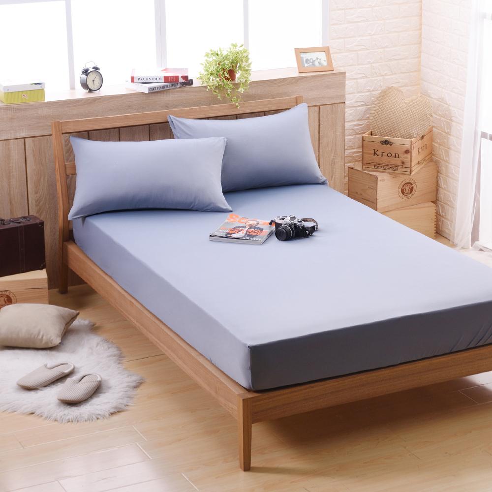 喬曼帝Jumendi 超涼感纖維針織加大三件式床包組-個性灰