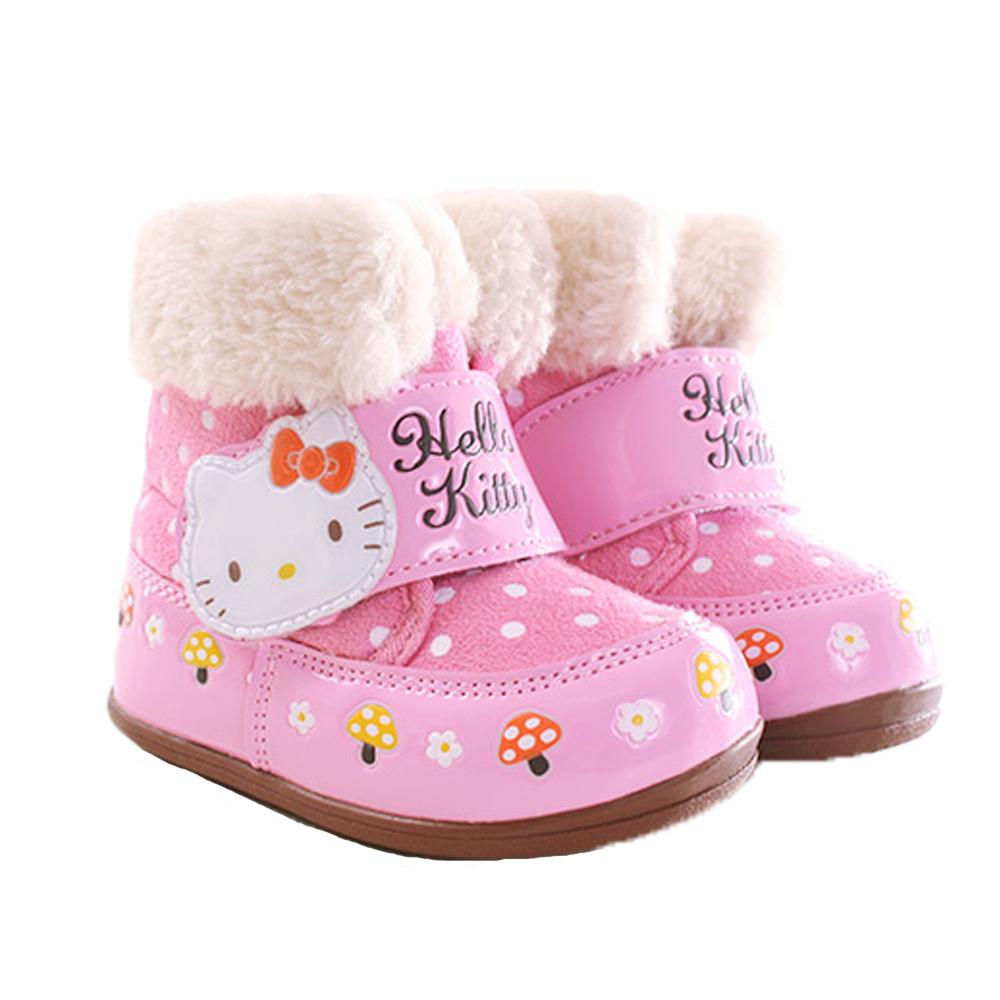 Hello Kitty點點魔鬼貼雪靴 粉 sk0255 魔法Baby