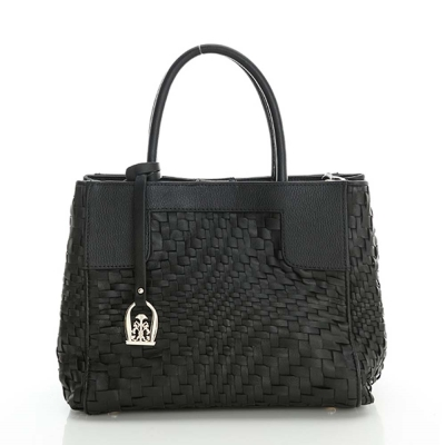 LouiseC. 羊皮編織方包 - 黑色 73L05-0001B05
