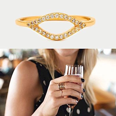 GORJANA 智慧之眼 金色戒指 鑲細緻白鑽 細緻百搭款