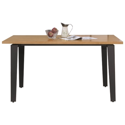 Bernice-Alvin現代實木面5尺餐桌
