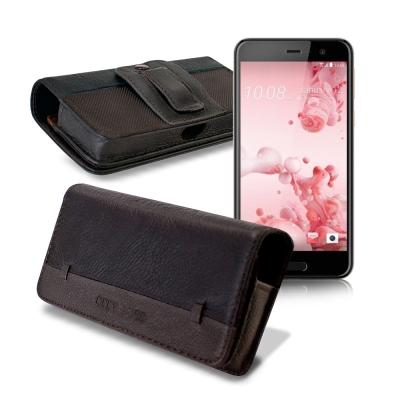 CB HTC U Play / OPPO A39 品味柔紋橫式腰掛皮套