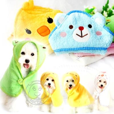 Petstyle》可愛動物造型吸水浴袍毛巾L號55*55cm