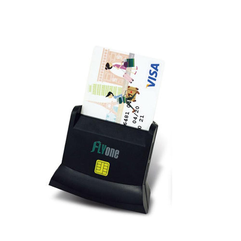 FLYone A200 直立式 多功能讀卡機 ATM晶片 + SD/TF記憶卡讀卡機