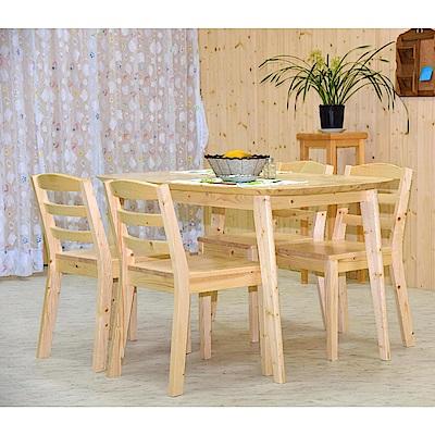 雲杉餐桌椅組(1桌4椅)
