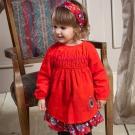 愛的世界 純棉俄羅斯娃娃條絨洋裝 1~4歲