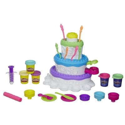 培樂多Play-Doh 創意DIY黏土蛋糕豪華遊戲組 A7401