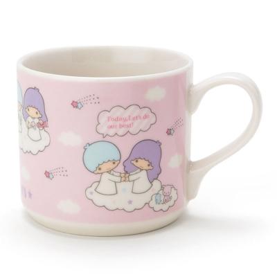 Sanrio-雙星仙子陶磁馬克杯-復古粉紅