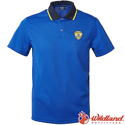 Wildland 荒野 0A61616-70寶藍色 男Coolmax排汗POLO衫