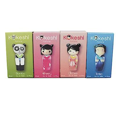 (即期品)Kokeshi福氣好運娃娃淡香水禮盒4入組
