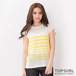 【TOP GIRL】針織短袖上衣-共兩色