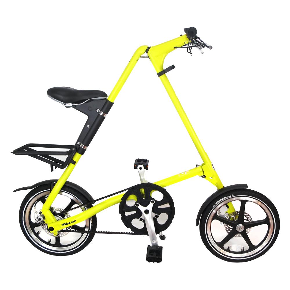 STRiDA 速立達 16吋LT折疊碟剎單車(三角形單車)-芥末黃
