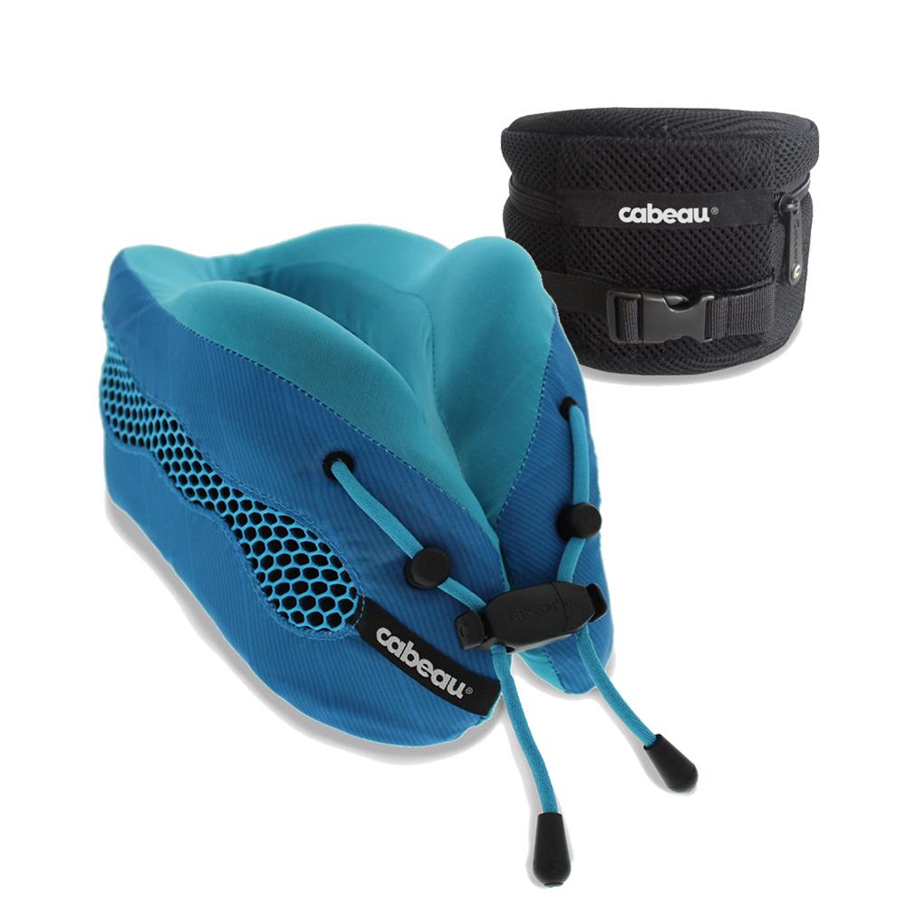CABEAU-酷涼記憶棉頸枕2.0-沁藍