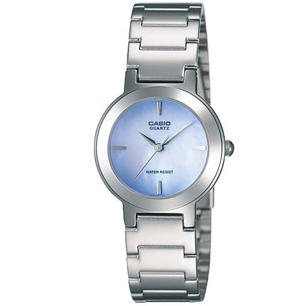 CASIO 時尚精緻小巧甜美淑女腕錶(LTP-1191A-2C)-珍珠母貝紫藍色/25.5mm