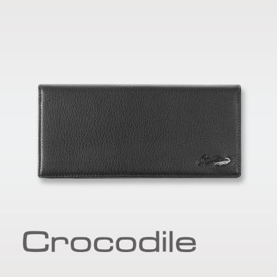 Crocodile 自然摔紋真皮長夾 0103-07401-01