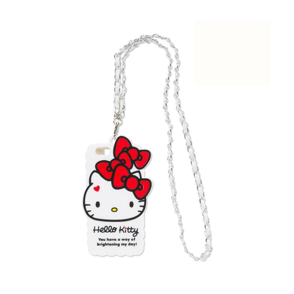 Sanrio HELLO KITTY iPhone6矽膠手機殼附可拆式鍊條頸帶