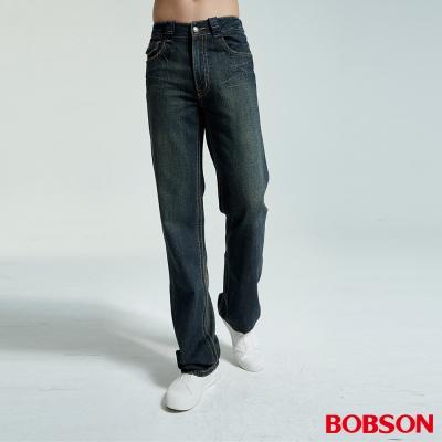 BOBSON 男款中直筒深藍牛仔褲