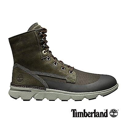 Timberland 男款橄欖綠絨面Eagle Bay皮革搭布面靴