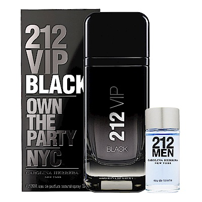 Carolina Herrer 212VIP BLACK男性淡香精100ml (贈品牌小香