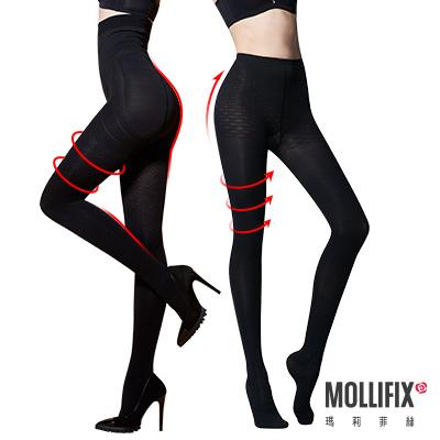 Mollifix 踮腳尖急塑保暖褲X纖腿塑型塑身襪 美腿限定2件組