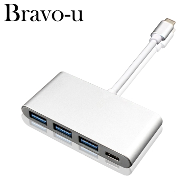 Bravo-U Type-C 鋁合金USB3.0 3Port /Type-C轉接卡