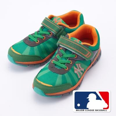 MLB大聯盟洋基2015新品。避震氣墊運動童鞋款綠