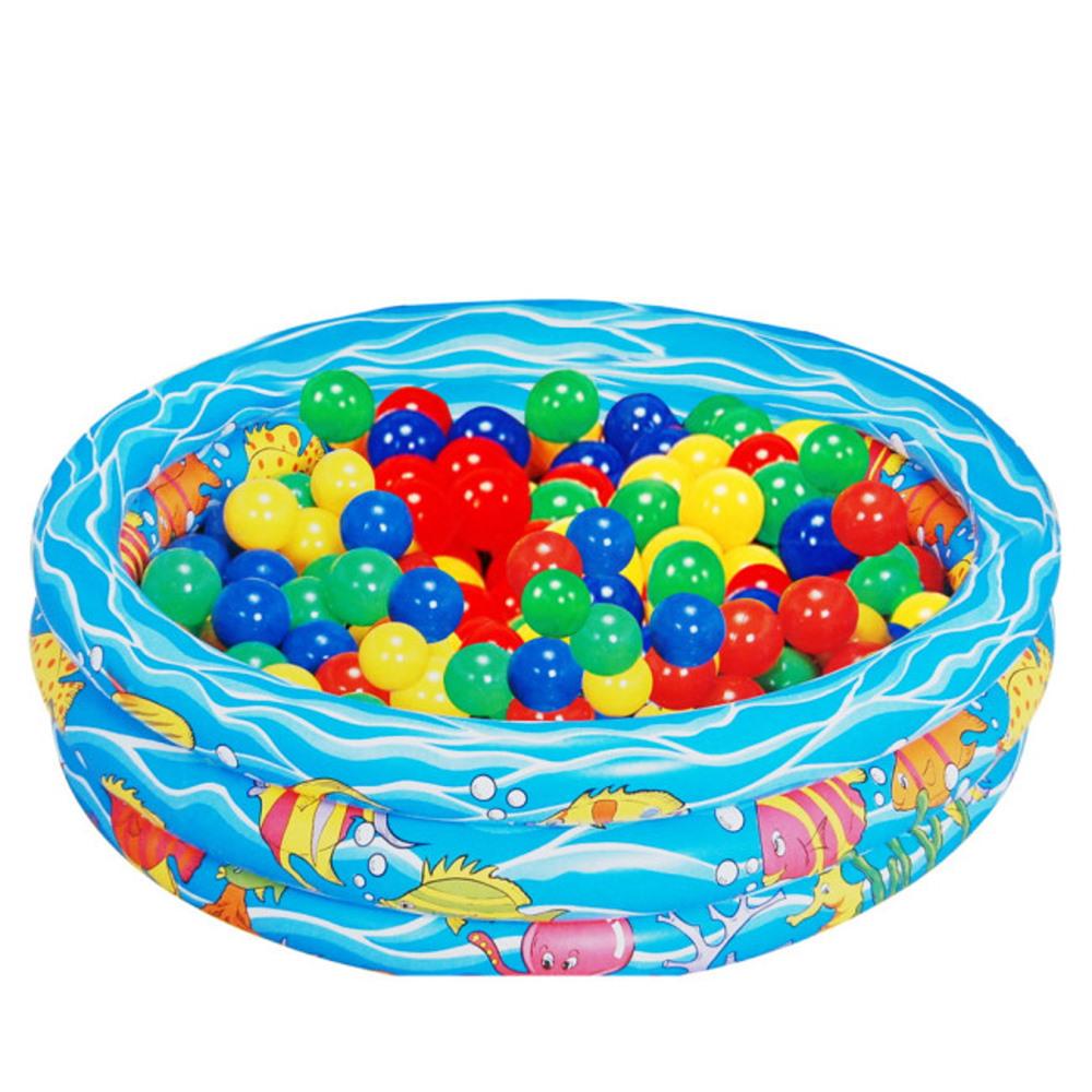 歡樂充氣游泳遊戲池(附10顆彩球)