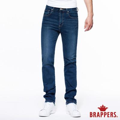 BRAPPERS 男款 HG高腰系列-男用高腰彈性直統褲-藍