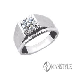 MANSTYLE 豪邁 2.00ct 八心八箭 鑽石戒指