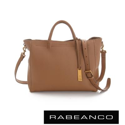 RABEANCO 迷時尚系列優雅兩用小手提包(大) - 駝