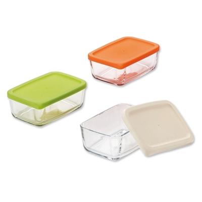 【ADERIA】日本進口收納玻璃盒3件套組400ml