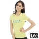 Lee 短袖T恤 logo熱帶雨林印刷-女款-黃 product thumbnail 1