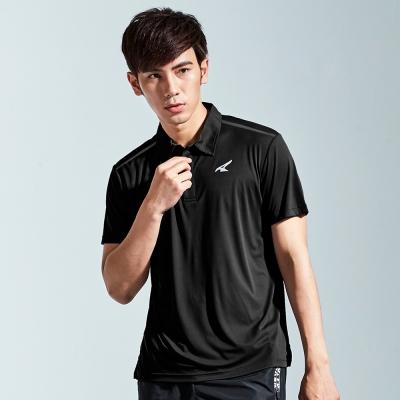 【AIRWALK】簡約設計吸排POLO衫-黑