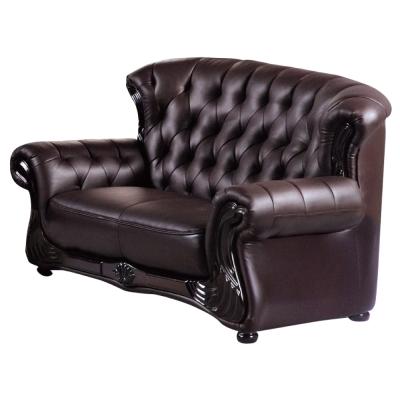 品家居 瓦卡特咖啡皮革沙發雙人座-160x80x90cm-免組