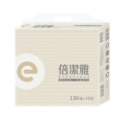 倍潔雅elegant超柔韌抽取式衛生紙130抽x10包/串