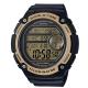 CASIO 球狀大錶面設計潮流運動數位錶(AE-3000W-9A)-黑x金框-55.5mm product thumbnail 1