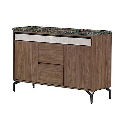 品家居 莎麗3.9尺石面餐櫃下座-117.5x41.5x80cm免組