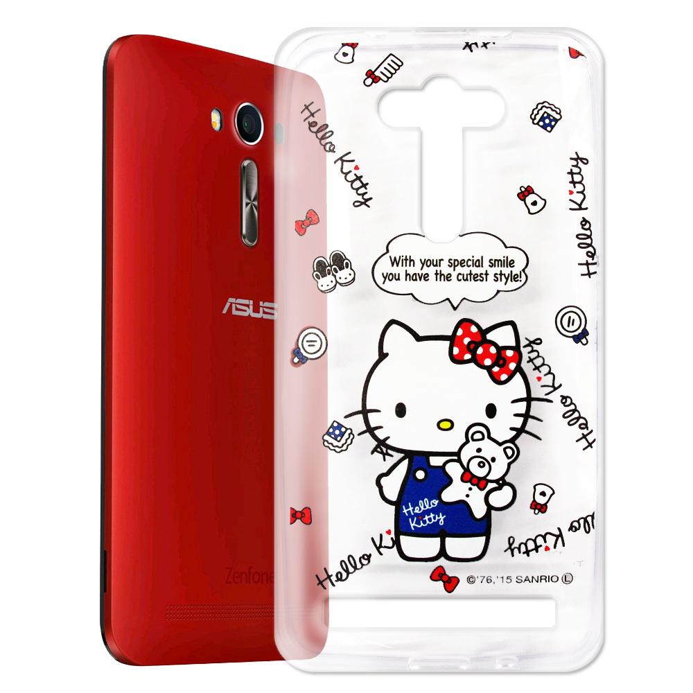 Hello Kitty ASUS Zenfone2 Laser 5.5吋 透明軟殼 公仔款