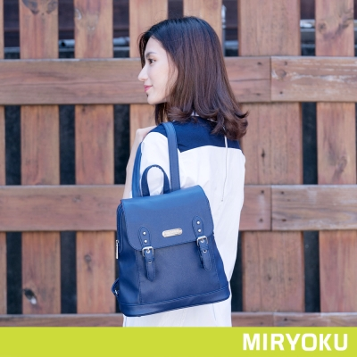 MIRYOKU 質感斜紋系列 / 青春雙飾帶後背包(共4色)
