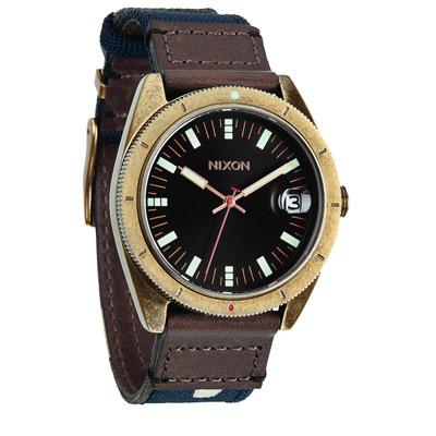 NIXON The ROVER II 風潮蔓延時尚運動腕錶-黑x迷彩咖/42mm