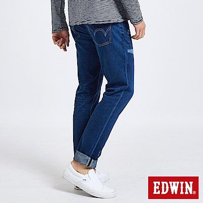 EDWIN 大尺碼503補丁磨破AB褲 -男-中古藍