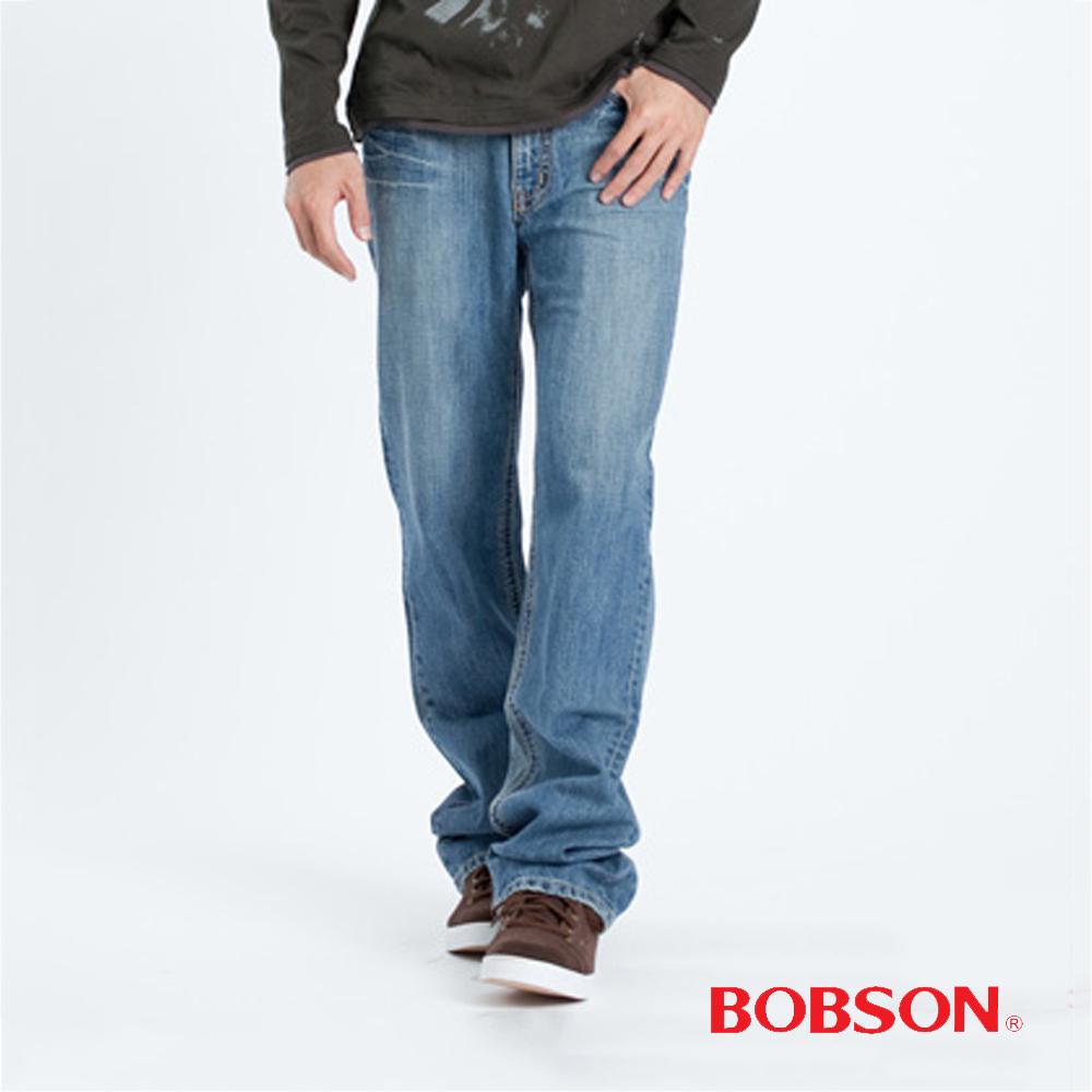 BOBSON 男款中直筒淺藍牛仔褲