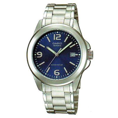 CASIO 時尚都會新風格指針錶(MTP-1215A-2A)-藍/38.4mm