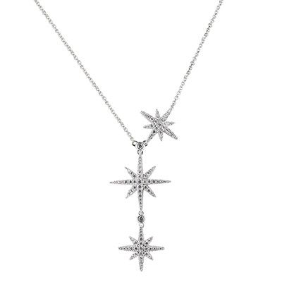 apm MONACO METEORITES系列晶鑽鑲飾流星設計純銀項鍊(銀)