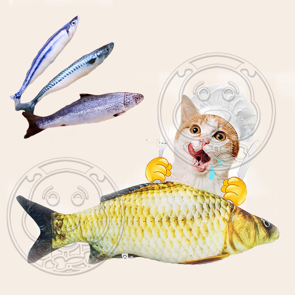 dyy》仿真超市魚市場薄荷貓咪玩具-小20cm