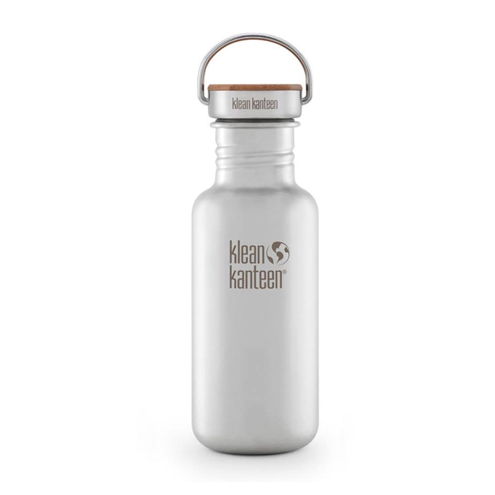 美國Klean Kanteen不鏽鋼瓶532ml-霧面鋼(竹片鋼蓋)
