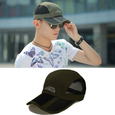 Seoul-Show-男女可摺疊運動遮陽棒球帽II-軍綠