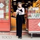 東京著衣-yoco安琪聯名法國甜心絲絨細肩帶長褲兩件式套裝-(共一色)