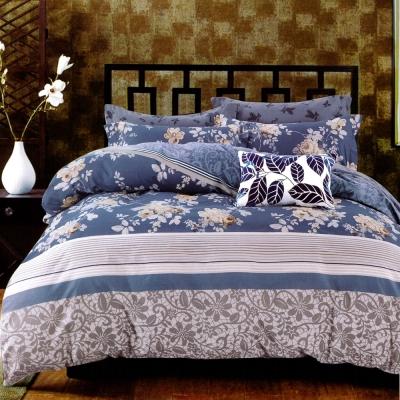 生活提案 純棉涼被床包組四件組-黛麗莊園/加大