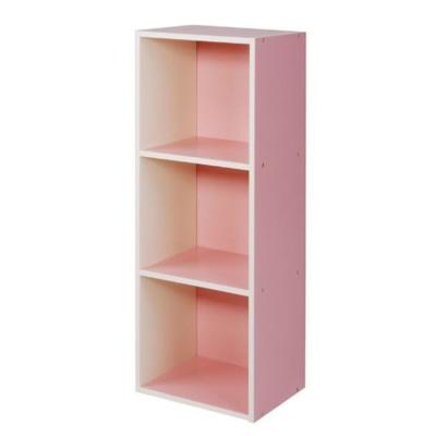 悅家居空間大師粉彩三格櫃-粉紅31x24x80cm